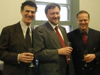 Dr. Allan Zavod with Prof. Bebbington (Dean) and Alan Kogosowski - click to see an enlarged version of this image