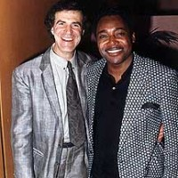 Allan Zavod and George Benson after a performance - click to see an enlarged version of this image