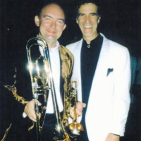 James Morrison with Allan Zavod after performance of Trumpet Concerto - click to see an enlarged version of this image