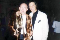 James Morrison with Allan Zavod in Munich after performance of Trumpet Concerto - click to see an enlarged version of this image