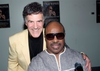 Allan Zavod and Stevie Wonder - click to see an enlarged version of this image