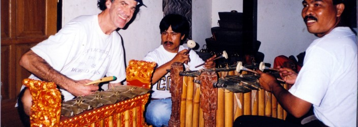 Allan Zavod taking a Balinese Gamelan Lesson