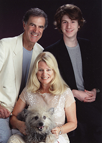 Dr. Allan Zavod with wife Christine, son Zak, and dog Sam - click to see an enlarged version of this image