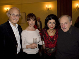 Prof. Paul Zimmet, Alona Kamasarov, Vivian Zimmet, Prof. Ron Taft - click to see an enlarged version of this image