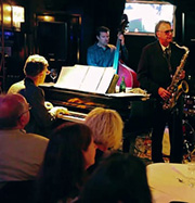The Marquee Lounge Bar: Allan Zavod's trio with Bobby Valentine & Wilbur Wilde 14 Jan 2015 - click to see an enlarged version of this image