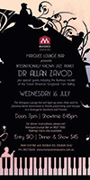 The Marquee Lounge Bar will light up when Allan Zavod and his fabulous band return back to Toorak performing cool-hot jazz in a homage to Gershwin and Friends - click to see an enlarged version of this image
