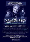 Jazz-Zavod Cabaret - Live at Marque: Zavod's trio with special guests Fem Belling & Paul Williamson - 'Mack the Knife - A Portrait of the Legendary Ella Fitzberald - click to see an enlarged version of this image