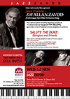 Live at Marque: Zavod's trio with special guests Fem Belling, Paul Williamson & Alejandro - 'Salute the Duke: Ellington and Friends' - click to see an enlarged version of this image