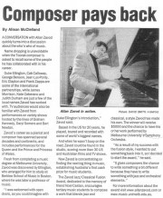 Age Article on new award: Composer Pays Back - click to see an enlarged version of this image