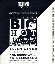 Next Wave Festival: Big Hot Jazz - Allan Zavod with special Guests Kate Ceberano and Don burrows at Melbourne Concert Hall - click to see an enlarged version of this image