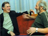 Allan Zavod Interviewing Topol about his role in Fiddler on the Roof - click to see an enlarged version of this image