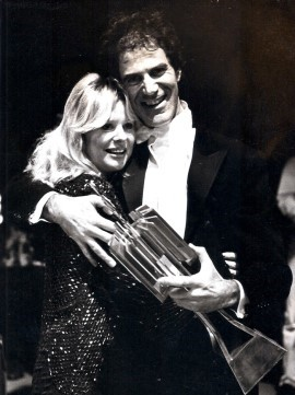 Allan Zavod with his wife Christine after winning the ASU Song Contest in 1987- click to see an enlarged version of this image