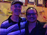 With Saxophonist Tran Manh Tuan at his Sax N Art Jazz Club - click to see an enlarged version of this image