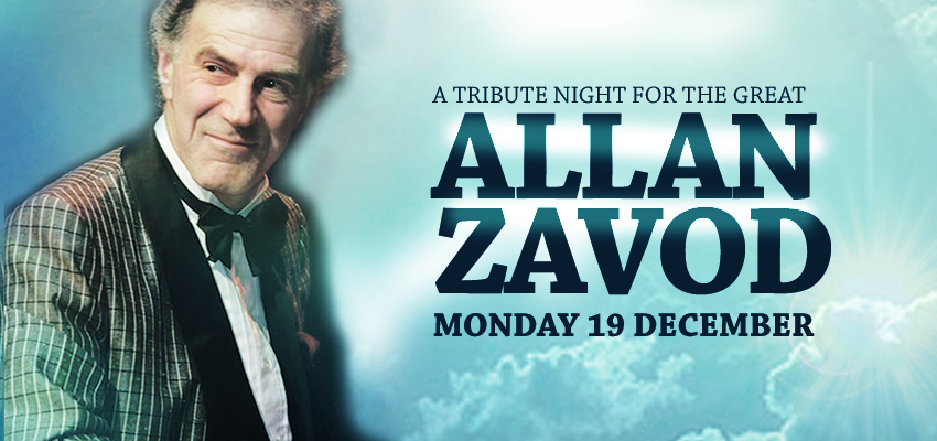 A Tribute Night for the great Allan Zavod - click to see an enlarged version of this image