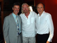 Dr. Allan Zavod with Dr. Alan Finkel and Sir Richard Branson - click to see an enlarged version of this image